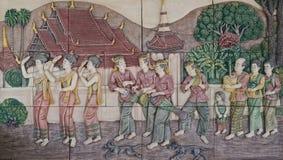 Native culture Thai stucco Stock Image