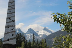 Native drawings on a Pinnacle in Canmore Stock Photography