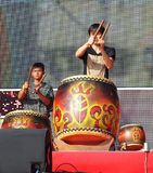 Native Drummers Perform in Taiwan Stock Image