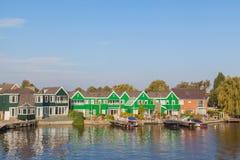 Native dutch colourful house in Zaaneschans, The Netherlands Stock Image