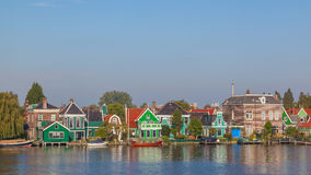 Native dutch colourful house in Zaaneschans, The Netherlands Royalty Free Stock Image