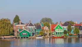 Native dutch colourful house in Zaaneschans, The Netherlands Royalty Free Stock Photos
