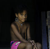 Native Embera Girl, Panama Royalty Free Stock Photography