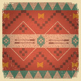 Native ethnic ornament of american indian. On old background texture Royalty Free Stock Image
