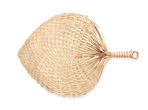 Native fan made from palm leaves on white background Royalty Free Stock Image