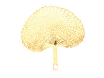 Native fan made from palm leaves Royalty Free Stock Photography