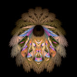 Native feather robe royalty free illustration