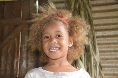 Native Fijian girl. In one village found of Taveuni Island Royalty Free Stock Images