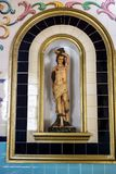 Saint Sebastian. A native Frenchman born in 256, Sebastião joined the Roman army and became captain of the praetorian guard, the emperor`s trust. Sebastian royalty free stock images