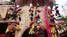Native fruits hanging decoration philippine festival royalty free stock image