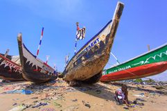 Native Ghanaian style boat Royalty Free Stock Images