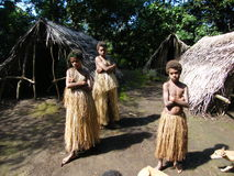 Native girls in Vanuatu Stock Images