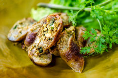 Native grilled sausage of north thailand Royalty Free Stock Image