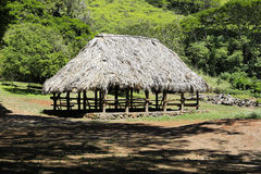 Native Hawaiian village house Stock Photo