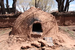 Native Horno Clay Oven in Bolivia, America Stock Images