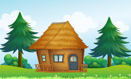 A native house in the hill Stock Photography