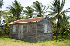 Native house little corn island Royalty Free Stock Photo