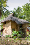 Native house of Mandaya tribe. Picture of a nipa hut of a Mandaya tribe found in Davao Oriental Philippines Royalty Free Stock Photo