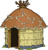 Native hut. On a white background vector Stock Photo