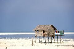 Native Hut on Stilts Stock Photos
