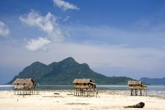Native Huts on Stilts Stock Images