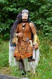 Native indian. Tlingit indian in alaska,full lenght shot Royalty Free Stock Images
