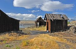 Native Indian Abandoned buildings Stock Image