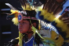 Native Indian boy Stock Images