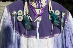 Native Indian Dress. A closeup of an indian outfit Stock Photo