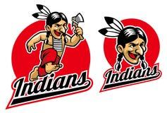 Native indian hold an axe Royalty Free Stock Photos