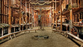 Native Indian Hut. Native Indian ceremonial hut in Lake Crawford, Ontario stock photography