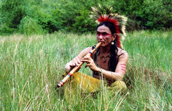 Native Indian musician Royalty Free Stock Photos
