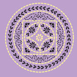 Native indian ornament, mandala. Royalty Free Stock Photo