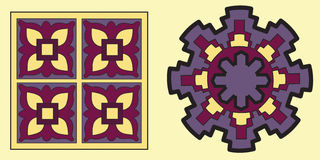 Native indian ornament, mandala. Royalty Free Stock Photography
