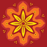 Native indian ornament, mandala. Stock Photography