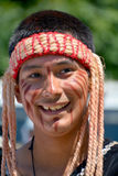Native Indian people. VICTORIA BC CANADA JUNE 24 2015: Native Indian people in traditional costume. First Nations in BC constitute a large number of First royalty free stock photos
