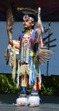 Native Indian people. VICTORIA BC CANADA JUNE 24 2015: Native Indian people in traditional costume. First Nations in BC constitute a large number of First stock photo