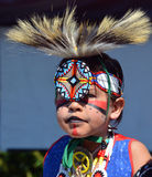 Native Indian people. VICTORIA BC CANADA JUNE 24 2015: Native Indian people in traditional costume. First Nations in BC constitute a large number of First royalty free stock image