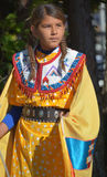 Native Indian people. VICTORIA BC CANADA JUNE 24 2015: Native Indian people in traditional costume. First Nations in BC constitute a large number of First stock image