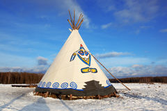 Native Indian tee-pee Stock Images