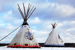 Native Indian tee-pee. Classic native Indian tee pee stock photo