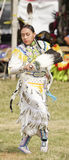 Native Indian woman. Grand Entry Contest Dancing at Native American heritage Celebration on June 5, 2010 in Brooklyn, NY royalty free stock image