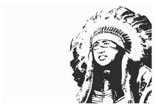 Native indians-logo Stock Photo