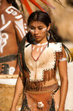 Native latin girl. In traditional dress Royalty Free Stock Photo