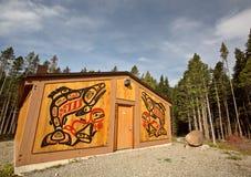 Native lodge at Kitsumkalum Provincial Park. Canada Royalty Free Stock Photo