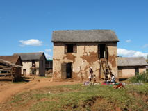 Native Malagasy house Royalty Free Stock Images
