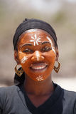 Native Malagasy Sakalava ethnic girls, beauties with decorated face Royalty Free Stock Image