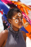 Native Malagasy Sakalava ethnic girls, beauties with decorated face Royalty Free Stock Photography