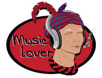 Native man wearing a headset Royalty Free Stock Image