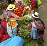 Native market. Urubamba, Peru Stock Image